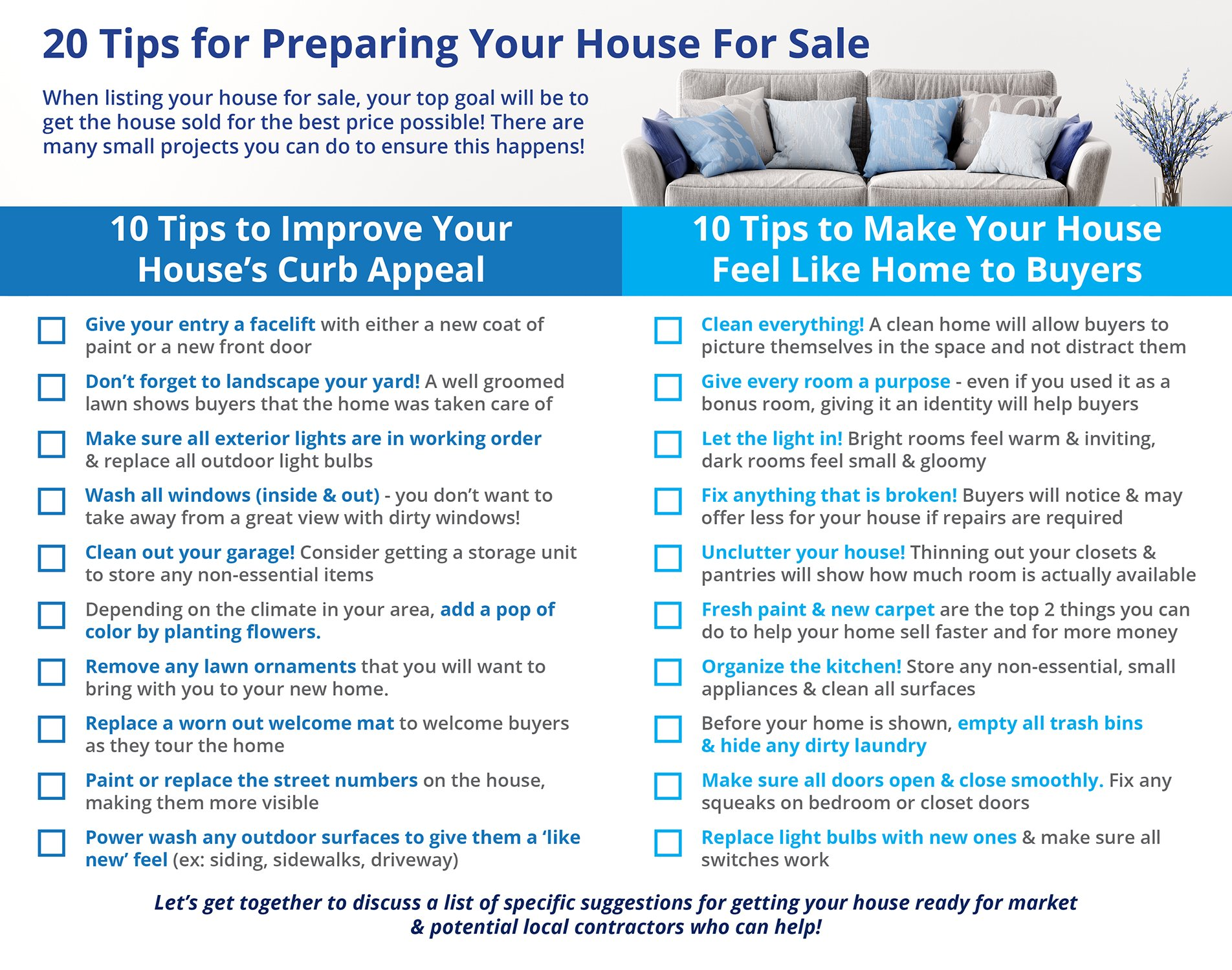 20 Tips for Preparing Your House for Sale This Spring [INFOGRAPHIC] | Simplifying The Market