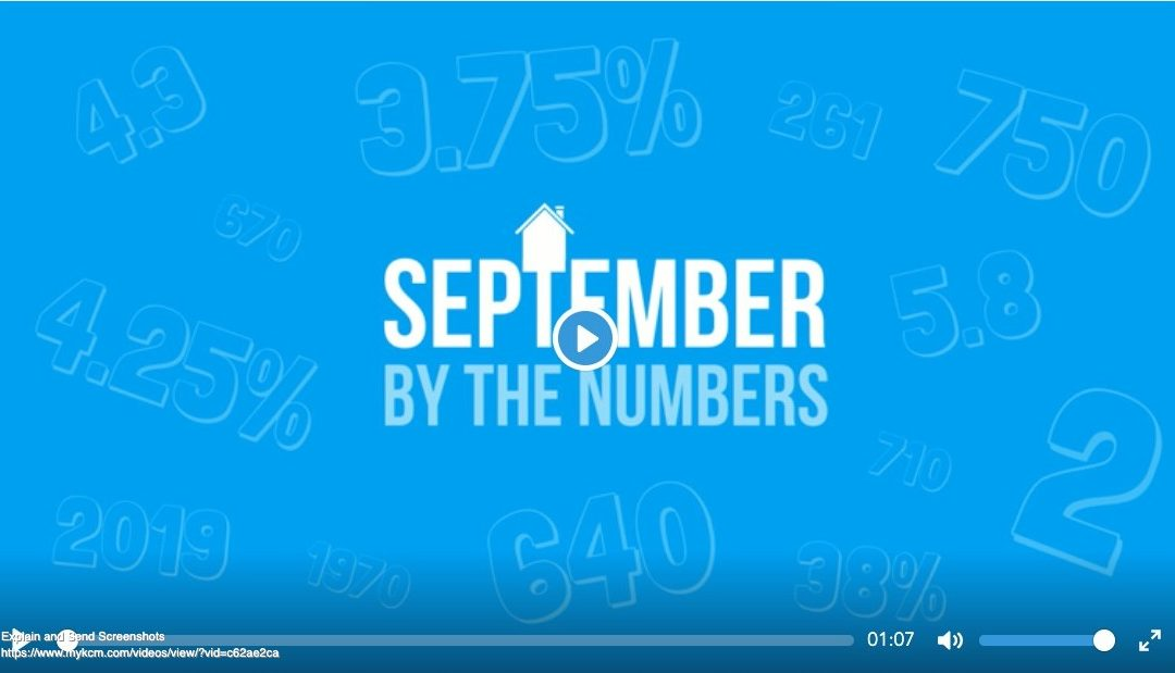 September 2019- By The Numbers